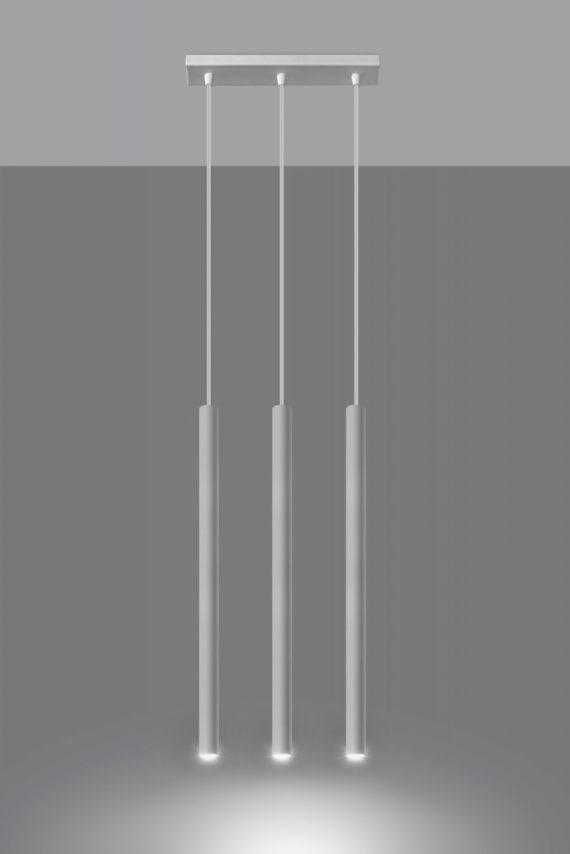 Designerska lampa wisząca Pastelo 3 punktowa 03 biała