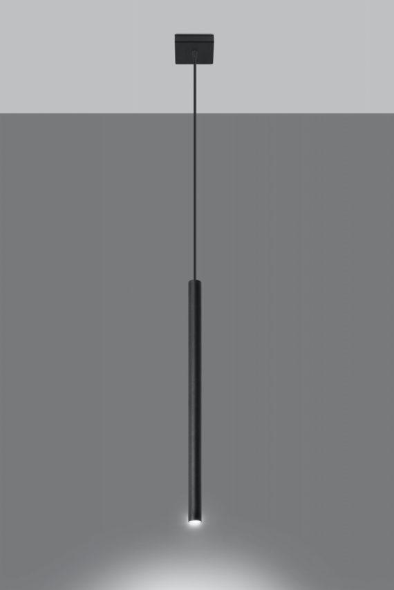Lampa wisząca rurka Pastelo 1 kolor czarny