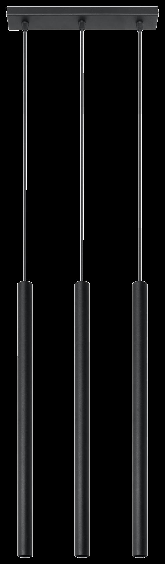 Designerska lampa wisząca Pastelo 3 punktowa 01 czarny