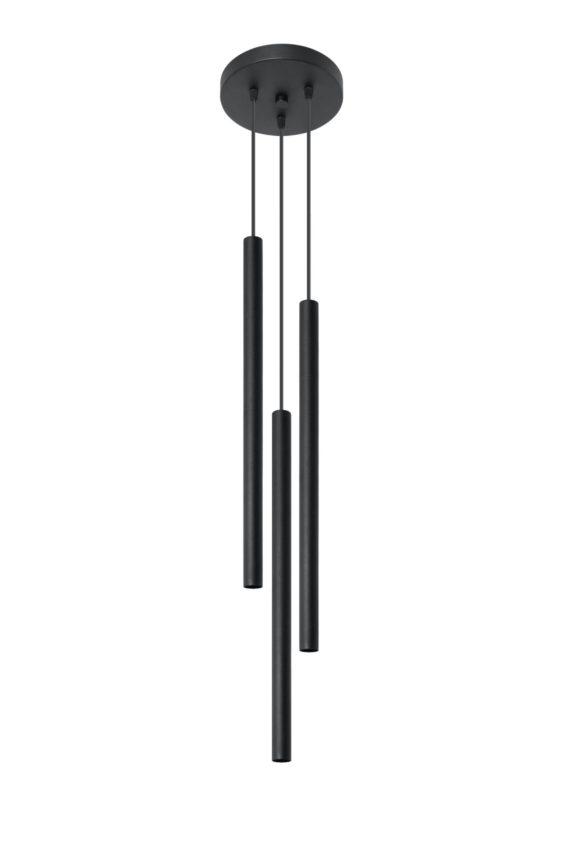 Pastelo 3 P lampa wisząca czarna tuba 02