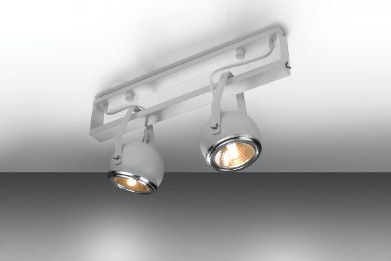 Lampa Regulowana Plafon UDITO 2 Biały