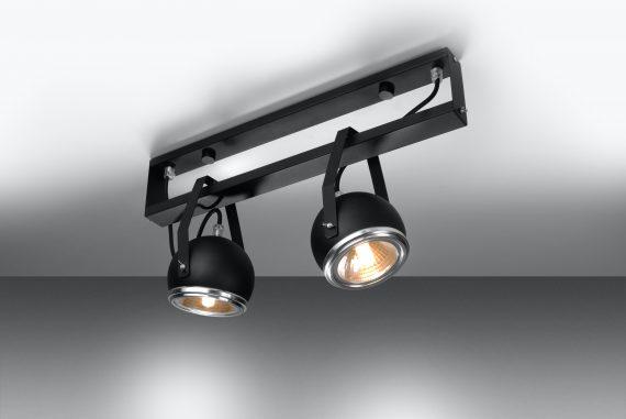 Lampa Regulowana Plafon UDITO 2 czarny 04