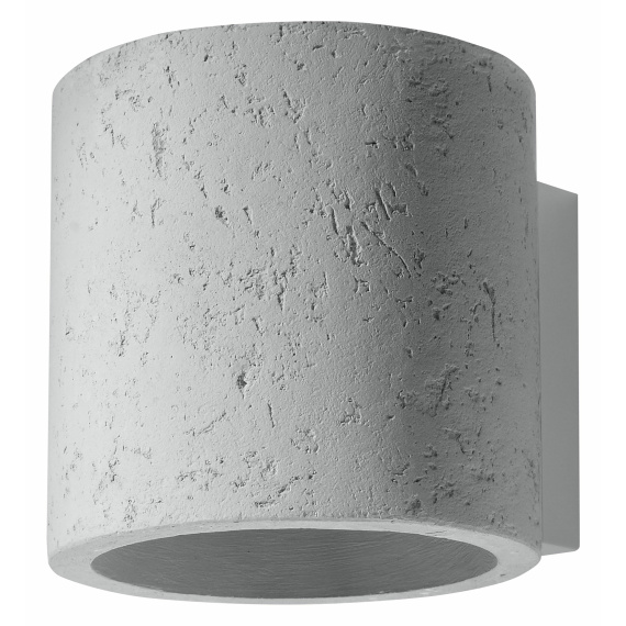 Lampa ścienna z betonu walec Quad 01
