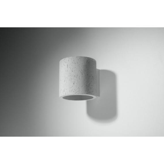 Lampa ścienna z betonu walec Quad 02