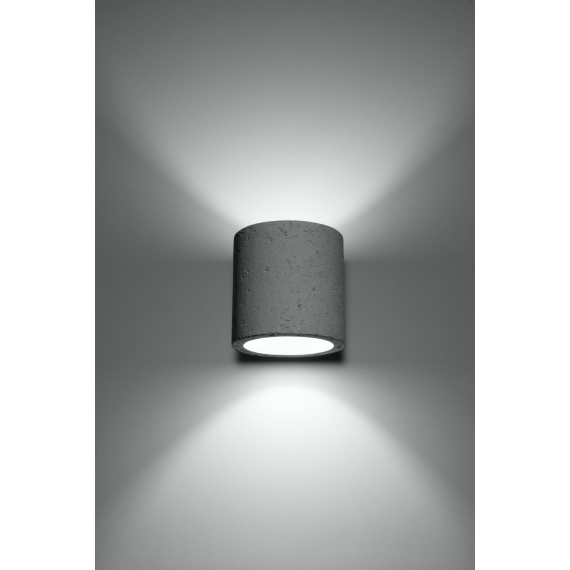Lampa ścienna z betonu walec Quad
