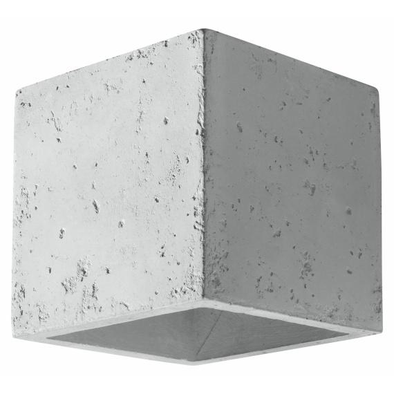 betonowa lampa ścienna Quad 01