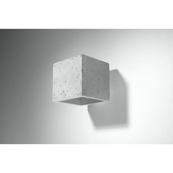betonowa lampa ścienna Quad 02