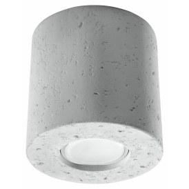 Designerska lampa sufitowa walec z betonu