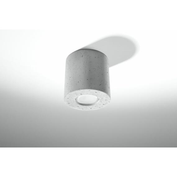 Designerska lampa sufitowa walec z betonu 02
