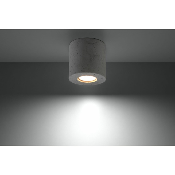 Designerska lampa sufitowa walec z betonu 01