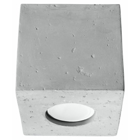 Lampa sufitowa betonowa Quad
