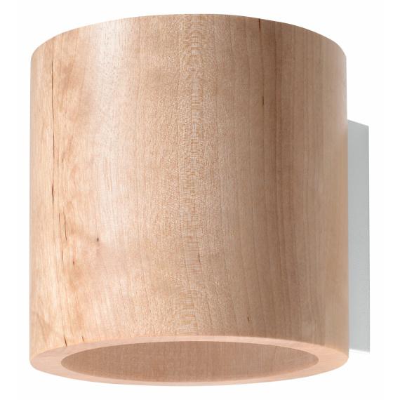 Lampa ścienna walec Orbis naturalne drewno