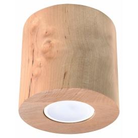 Nowoczesny plafon Orbis naturalne drewno