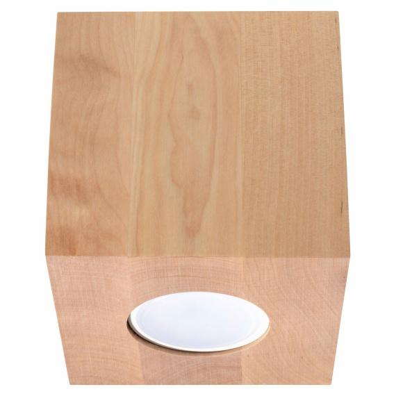 Lampa sufitowa Quad naturalne drewno