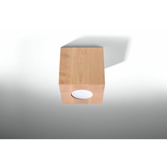 Lampa sufitowa Quad naturalne drewno 03