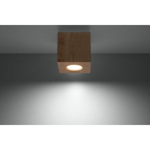 Lampa sufitowa Quad naturalne drewno 01