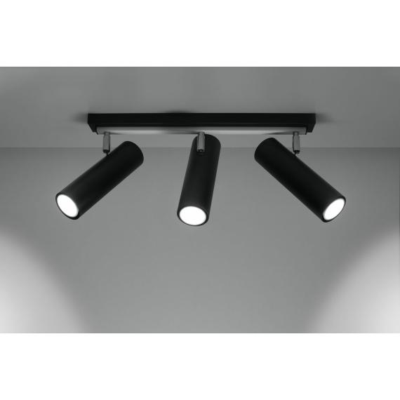 Lampa sufitowa spot Direzione 3 czarny 01