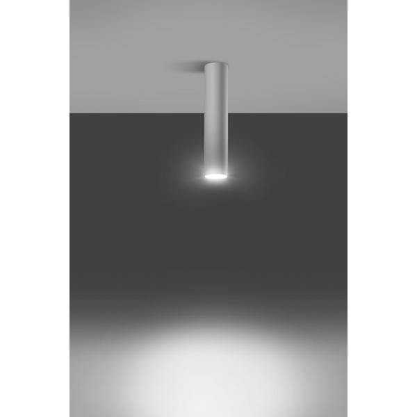 Nowoczesny plafon rura Lagos biały 01