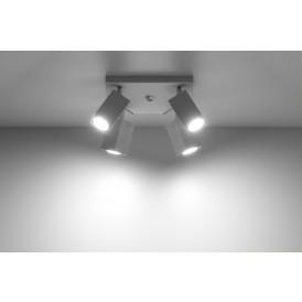 Designerski plafon 4 punktowy Merida 4 kolor biały 01