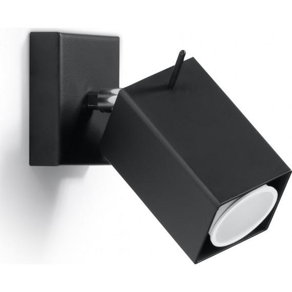 Stalowy kinkiet regulowany Merida kolor czarny 03