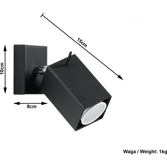 Stalowy kinkiet regulowany Merida kolor czarny 01