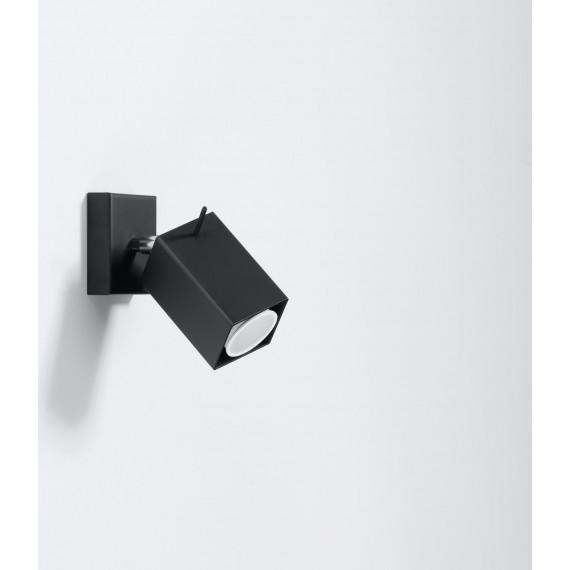 Stalowy kinkiet regulowany Merida kolor czarny 02