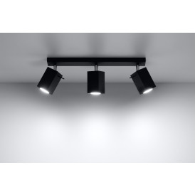 Lampa Sufitowa Spot Regulowany Plafon MERIDA 3 Czarny