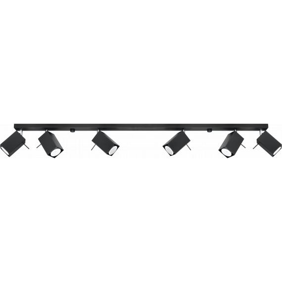 Lampa Sufitowa Spot Regulowany Plafon MERIDA 6L Czarny