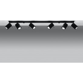 Lampa Sufitowa Spot Regulowany Plafon MERIDA 6L Czarny 03
