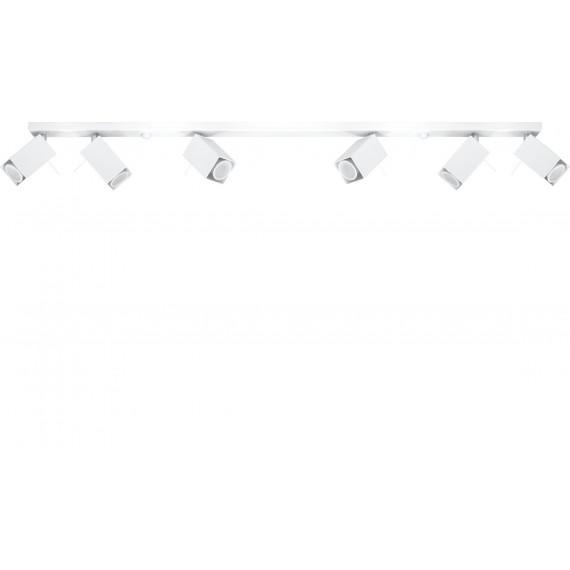 Lampa Sufitowa Spot Regulowany Plafon MERIDA 6L Biały 04
