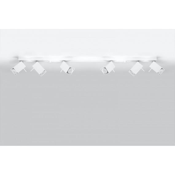 Lampa Sufitowa Spot Regulowany Plafon MERIDA 6L Biały 03
