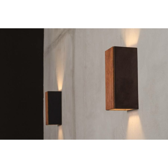 Nowoczesny kinkiet drewniany Orto Merbau 01