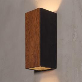 Nowoczesny kinkiet drewniany Orto Merbau