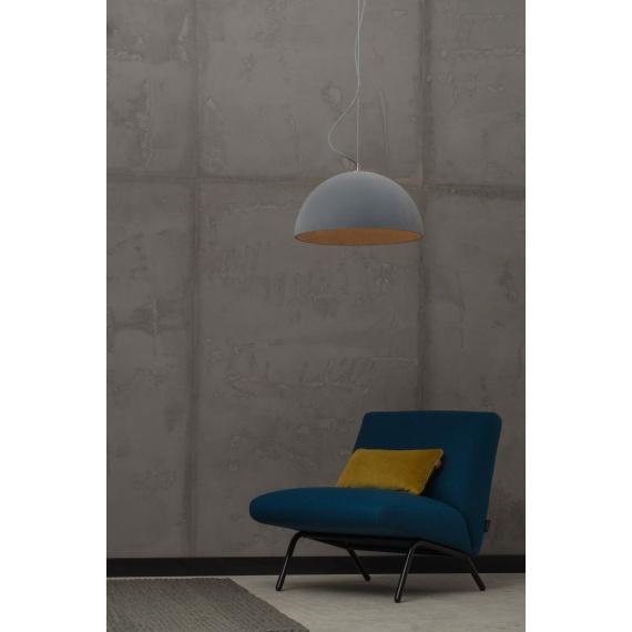 Industrialna lampa z betonu pokryta zamszem Sfera 47 Velvet