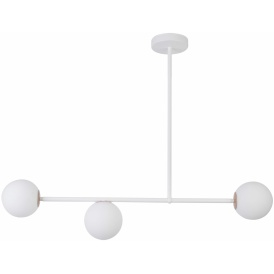 Nowoczesna lampa do salonu GAMA 3 kolor biały