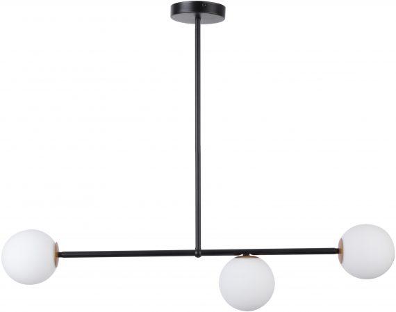 Lampa do salonu GAMA 3 kolor czarny