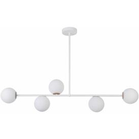 Lampa do salonu GAMA 5 kolor biały