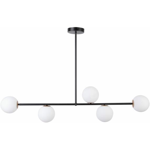 Lampa do salonu GAMA 5 kolor czarny