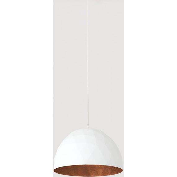 Nowoczesna lampa wisząca złoto biała glamour seria Leonardo