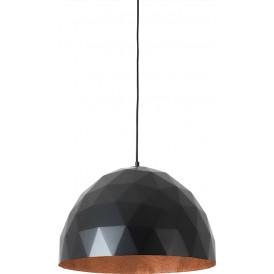 Nowoczesna połyskująca lampa do salonu miedziano czarna Leonard L
