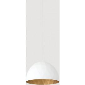 Nowoczesna lampa wisząca Leonard biało złota
