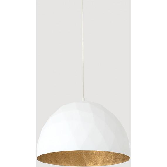 Elegancka lampa wisząca Leonard L złoto-biała