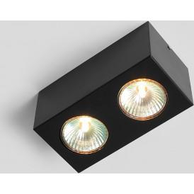 Nowoczesna lampa sufitowa Flass 2 kolor czarny