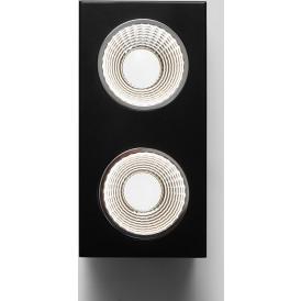 Reflektor sufitowy czarny Flass 2 LED