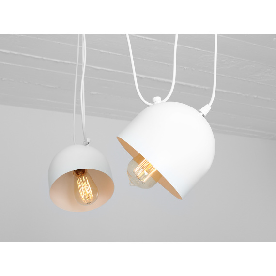 Nowoczesna lampa wisząca do salonu Popo 2 w kolorze białym