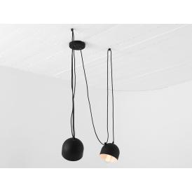Nowoczesna lampa wisząca do salonu Popo 2 kolor czarny