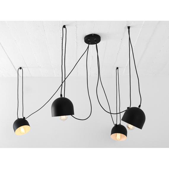 Industrialna lampa do salonu lampa pająk Popo 4 Custoform