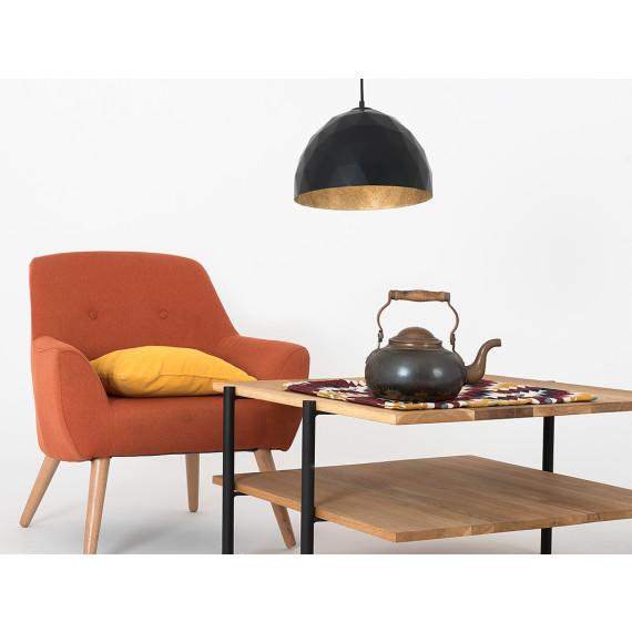 Okrągła nowoczesna lampa do salonu Leonard M 01
