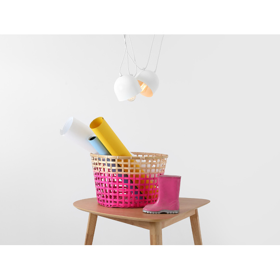 Nowoczesna lampa wisząca do salonu Popo 2 w kolorze białym 01