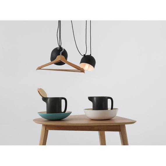 Nowoczesna lampa wisząca do salonu Popo 2 kolor czarny 01